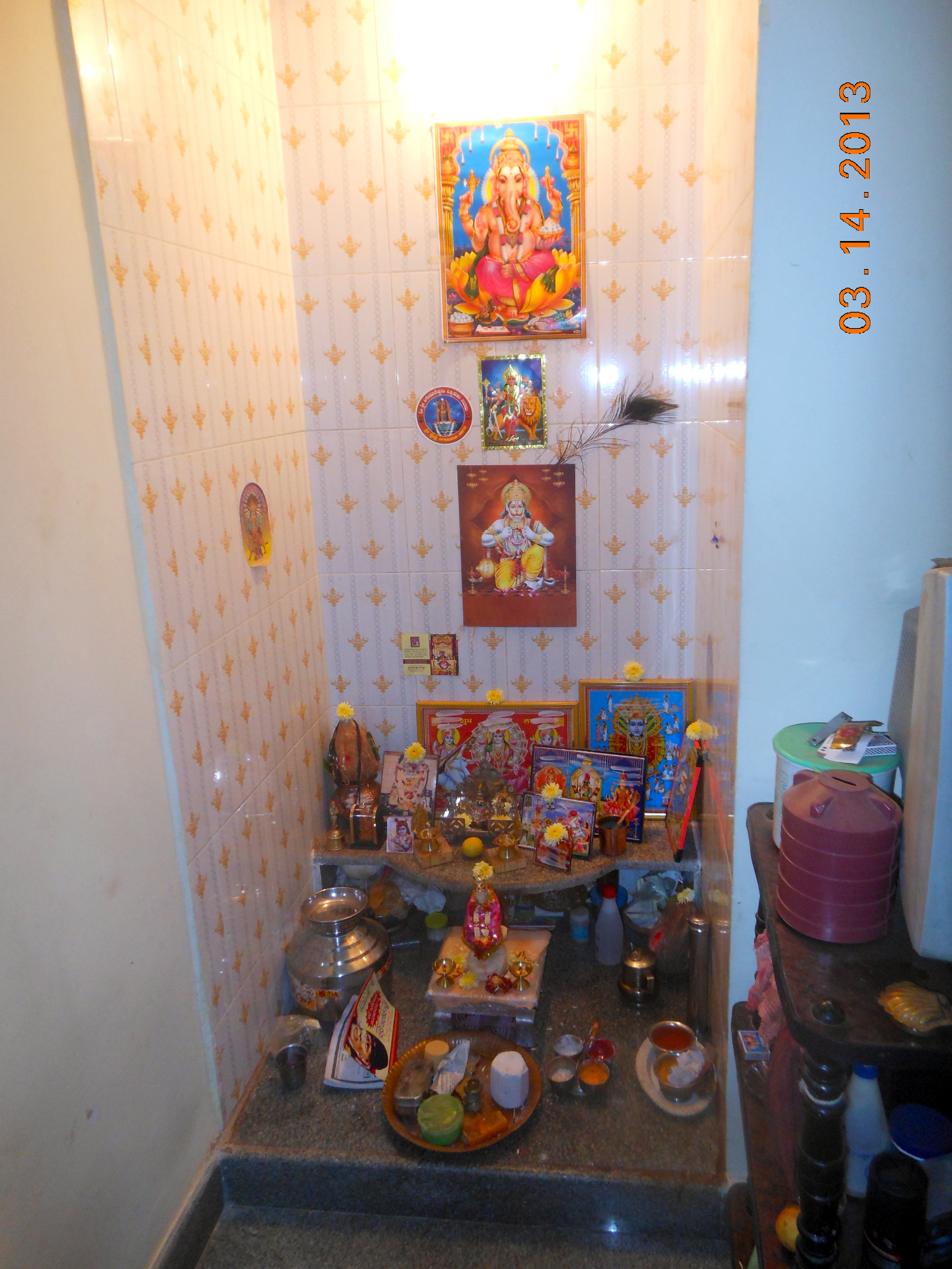 Pooja Room Arrangement: A Bengaluruean Narrative